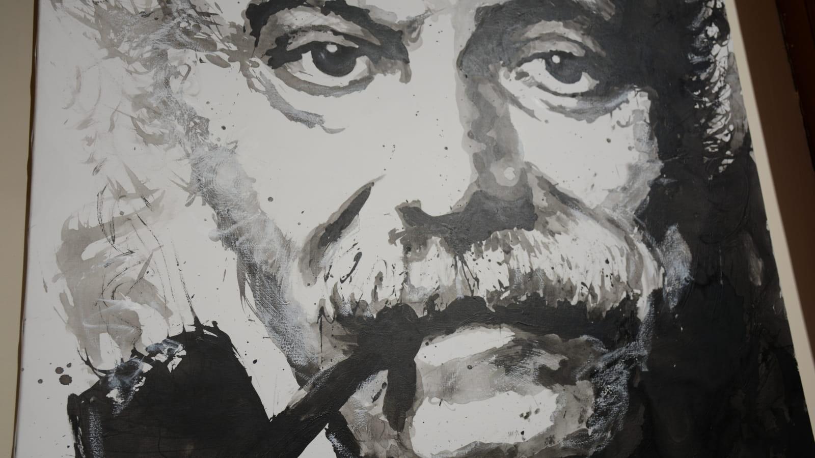 Portrait de Georges Brassens par Jean-Pierre Blanchard