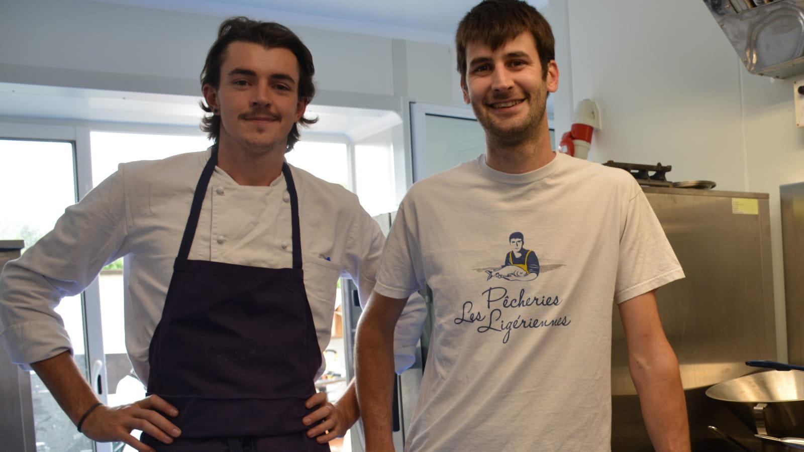 Romain Gadais - pêcheur professionnel de Loire et le chef Ambroise Voreux