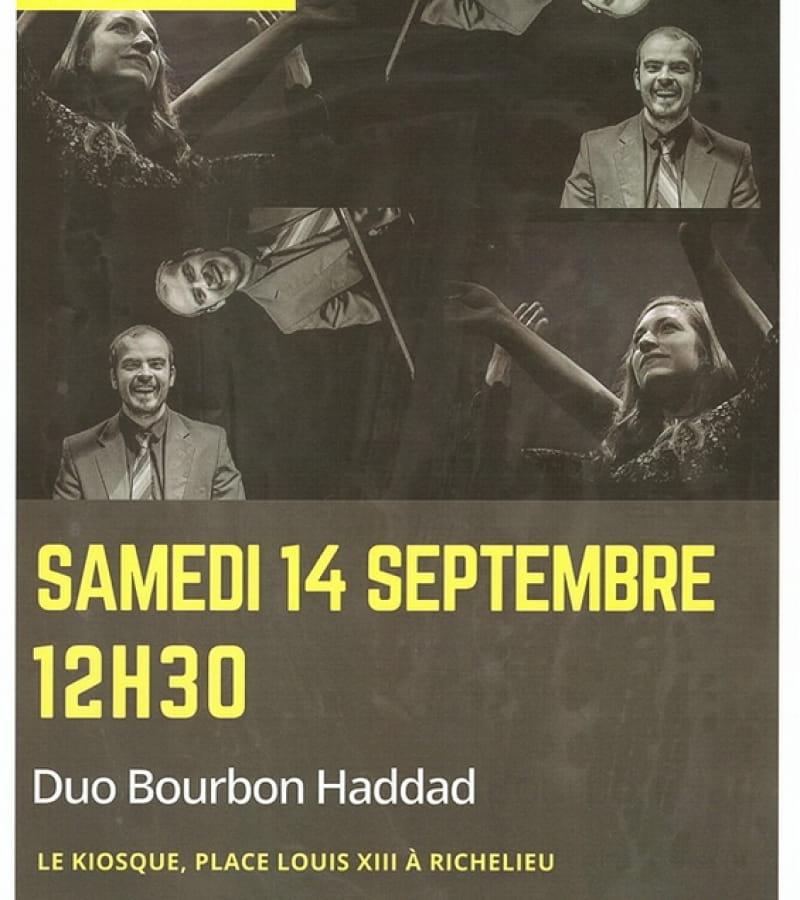 concert duo Bourbon Haddad kiosque Richelieu 2019