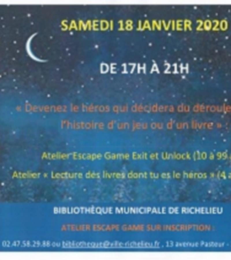 Nuit de la lecture bibliothèque Richelieu 2020