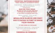 menu de noël chant de ble