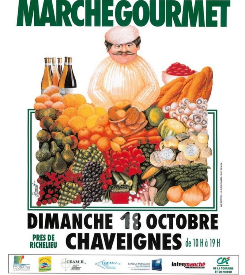 marché fermier gourmet Chaveignes 2020
