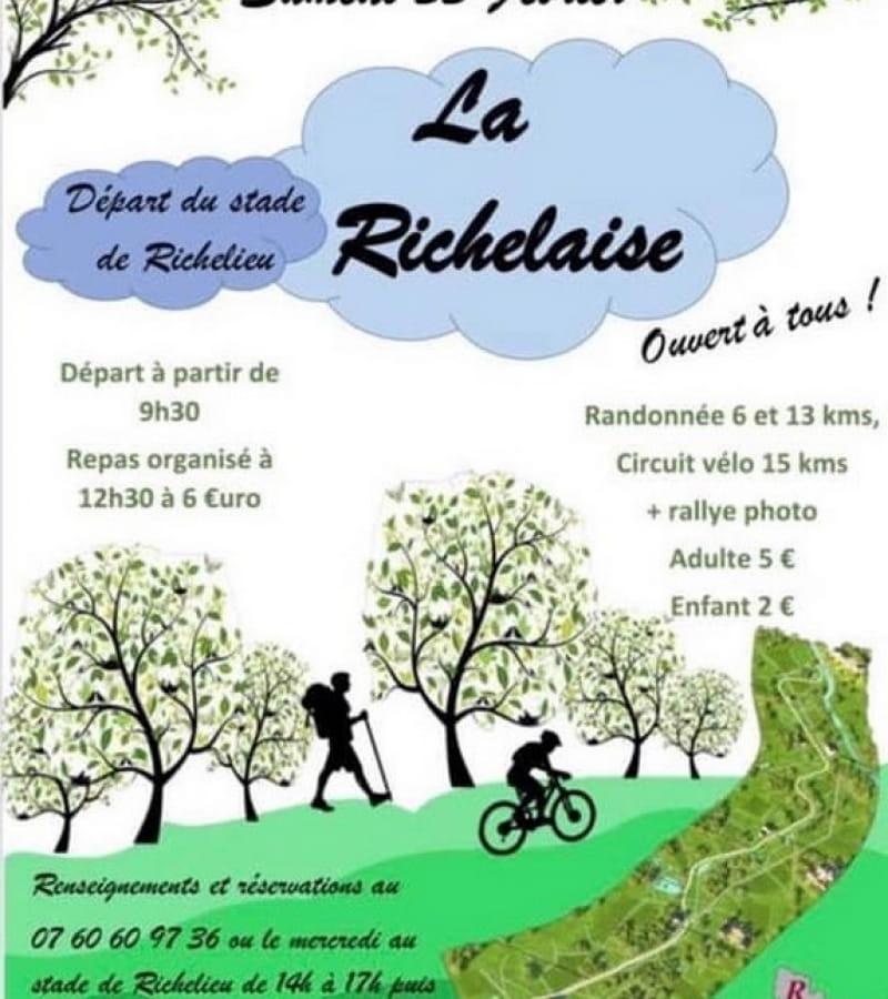 La Richelaise rando pédestre vélo février 2020 Richelieu