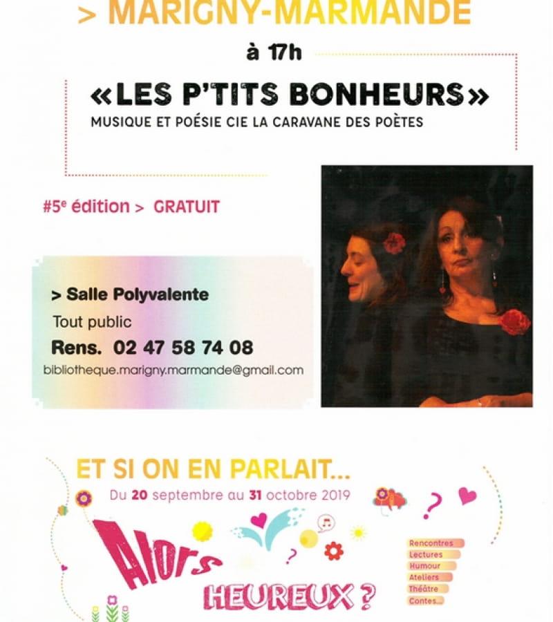 Les p'tits bonheurs Marigny-Marmande  septembre 2019