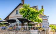 En terrasse - Restaurant l'Epine, à Azay-le-Rideau.