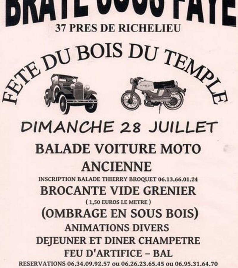 fête du bois du temple Braye-sous-Faye juillet 2019