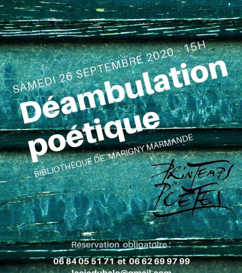 déambulation poétique bibliothèque Marigny Marmande 2020