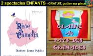 Spectacles enfants Rose Camélia et Claire au Pays des Grimaces Café Saint Georges Faye la Vineuse décembre 2019