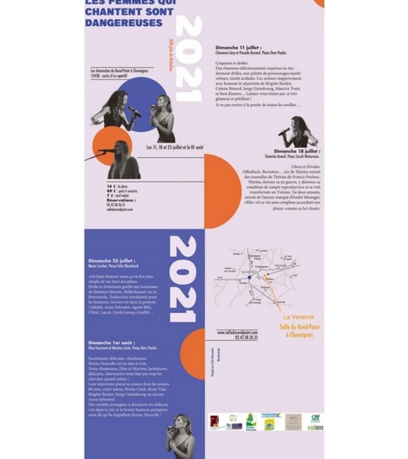 concerts salle du rond-point La Varenne Chaveignes 2021