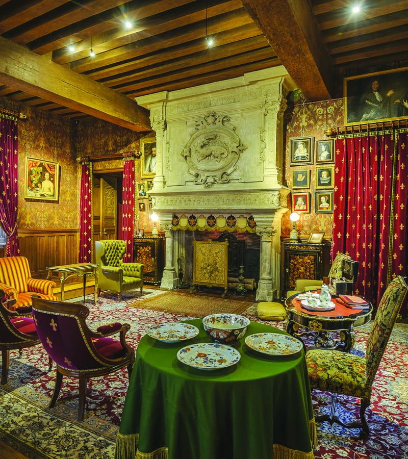 Azay-le-rideau - Château d'Azay-le-Rideau - Salle intérieur - Léonard de Serres - 2030