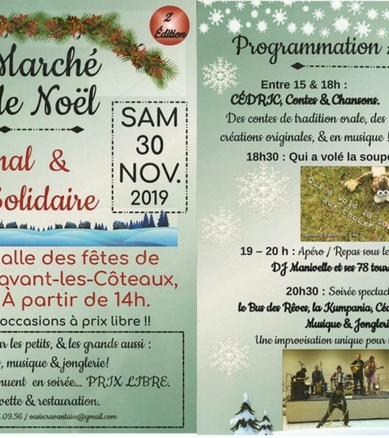 Marché de Noël Cravant-les-Coteaux 2019