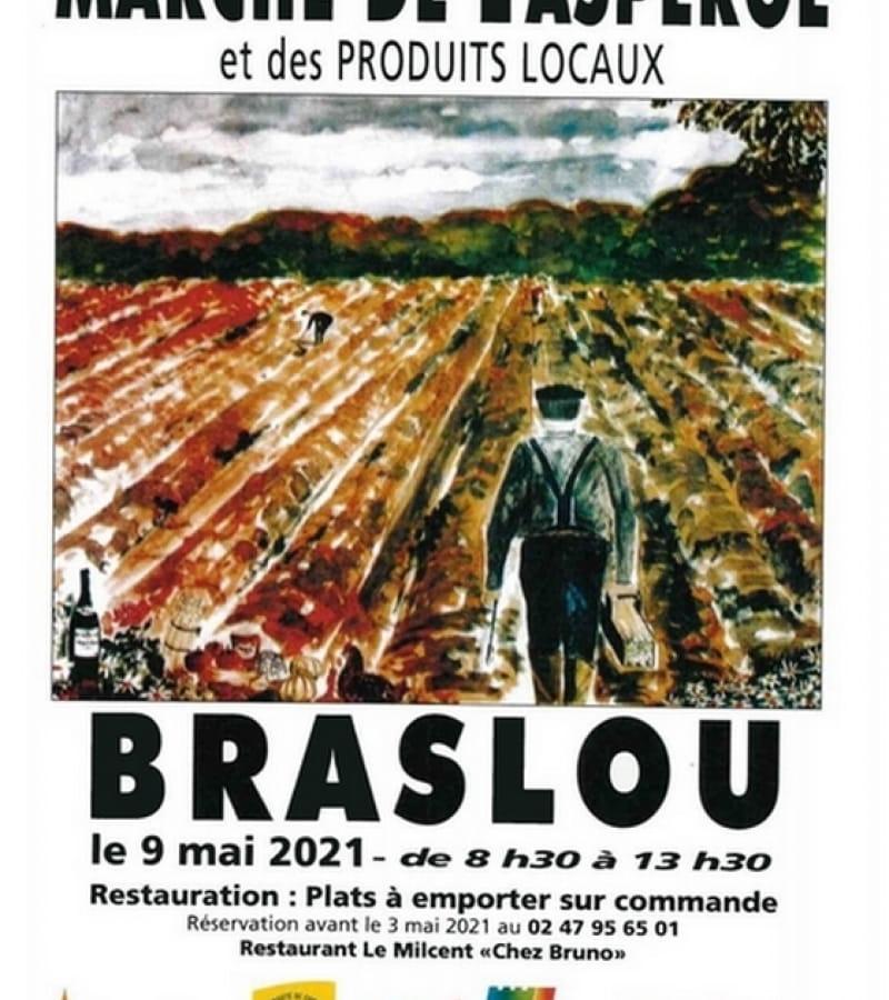 marché asperge produits locaux Braslou mai 2021