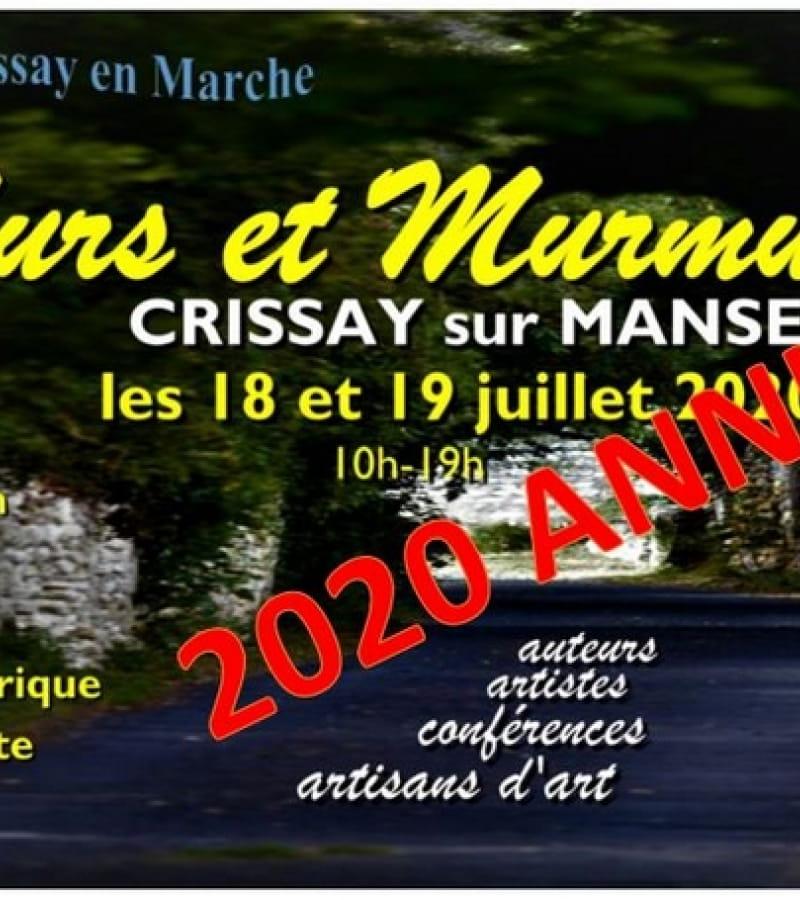 Murs et Murmures Crissay 2020 annulé