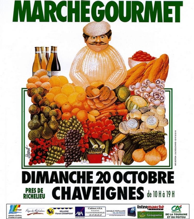 marché fermier gourmet Chaveignes octobre 2019