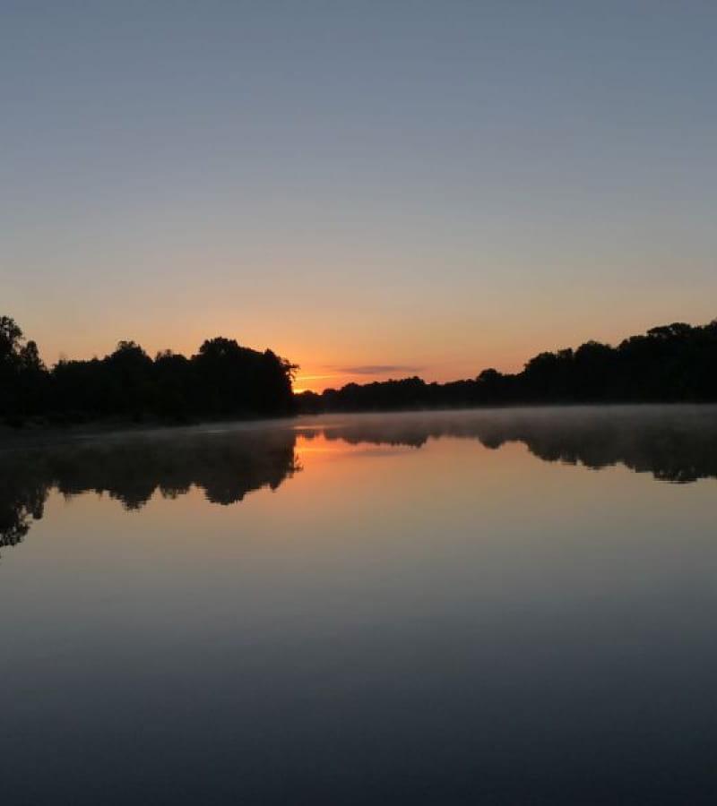 Loire sauvage au crépuscule