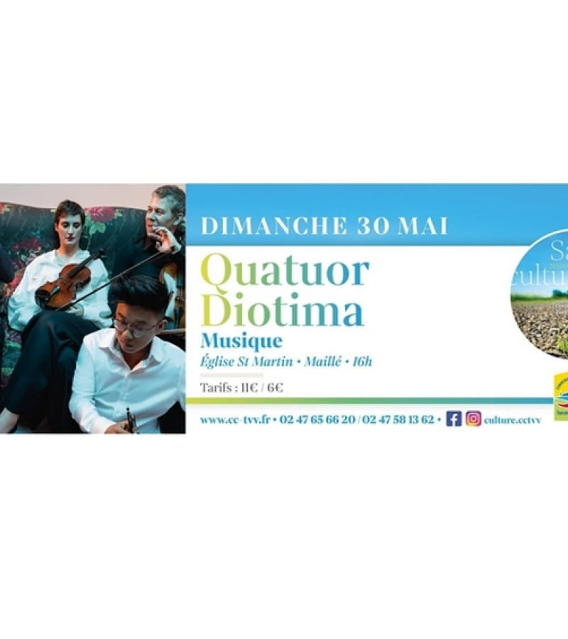 concert Quatuor Diotima Maillé mai 2021