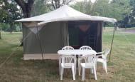 Camping des bords de vienne-bungalow toilé
