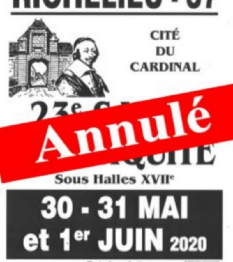 salon d'antiquités Richelieu 2020  annulé