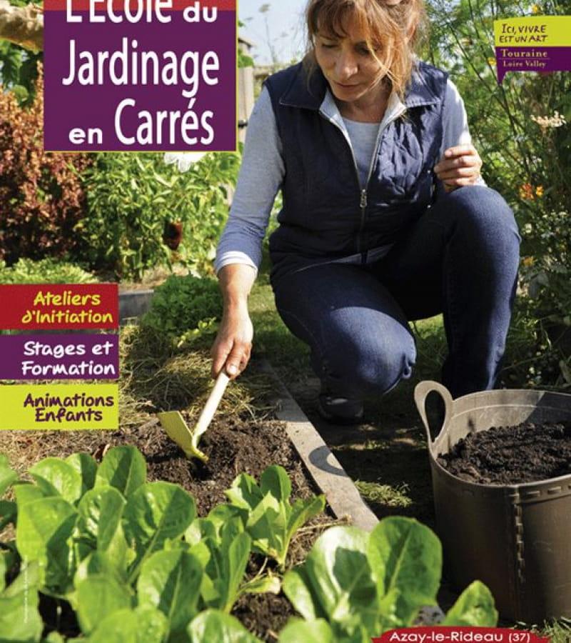école du jardinage potager en carrés à la française