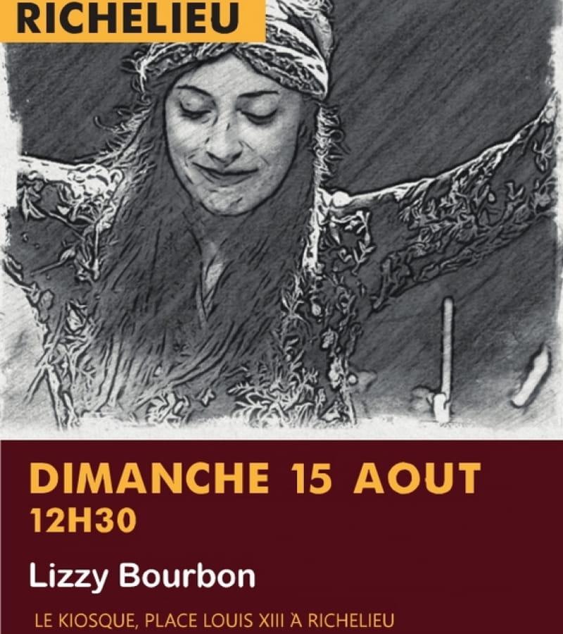concert Lizzy Bourbon kiosque Richelieu 15 août 2021