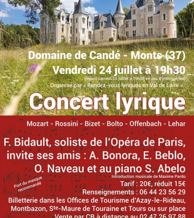 Concert lyrique domaine cande