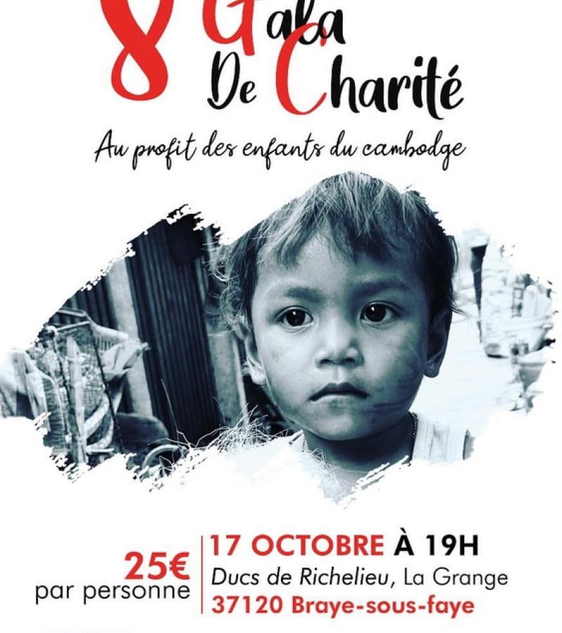 Gala charité AMUR enfants Cambodge Ducs de Richelieu Braye sous Faye 2020