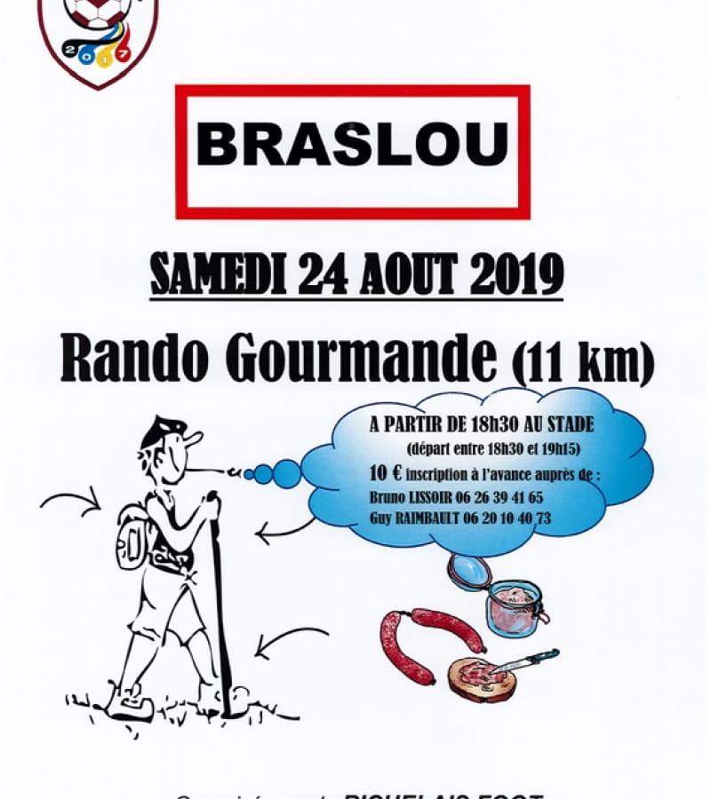 rando gourmande Braslou 24 août 2019