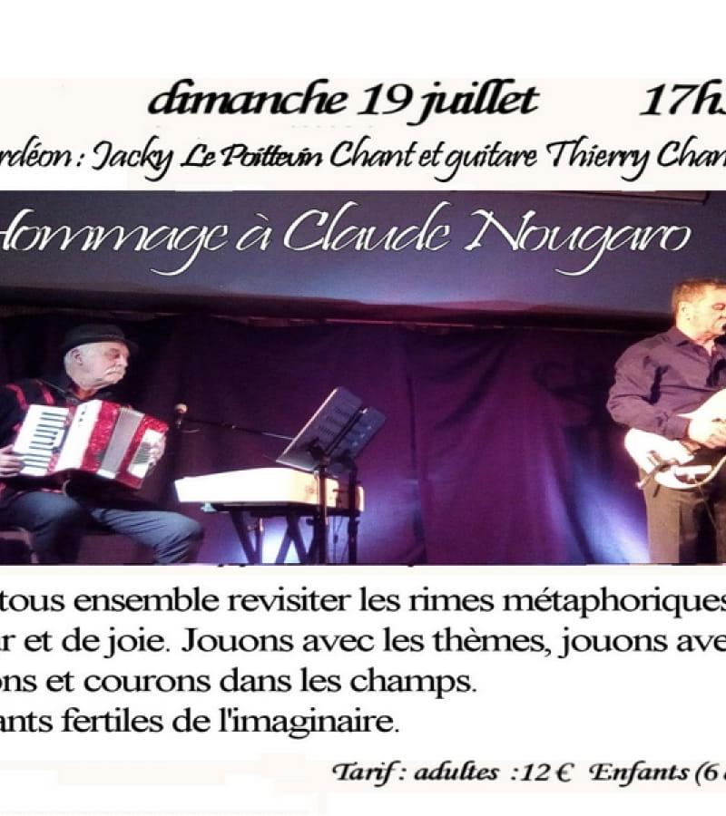 hommage à Nougaro La varenne salle rond point Chaveignes juillet 2020