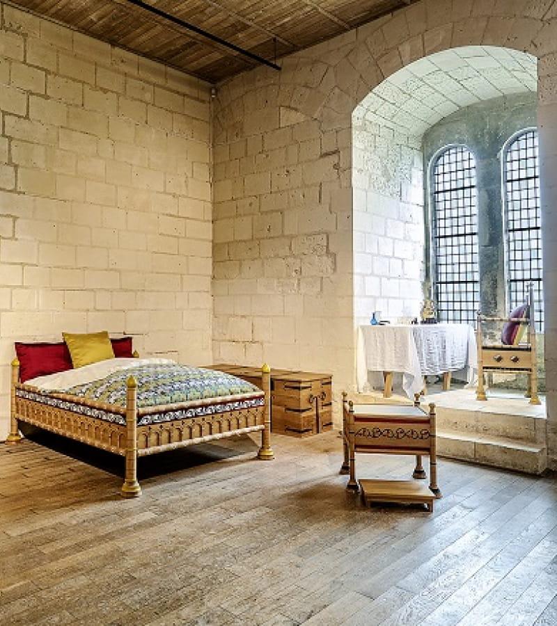 Chambre d'Aliénor en la  forteresse de Chinon en Indre-et-loire le 8 janvier 2021.