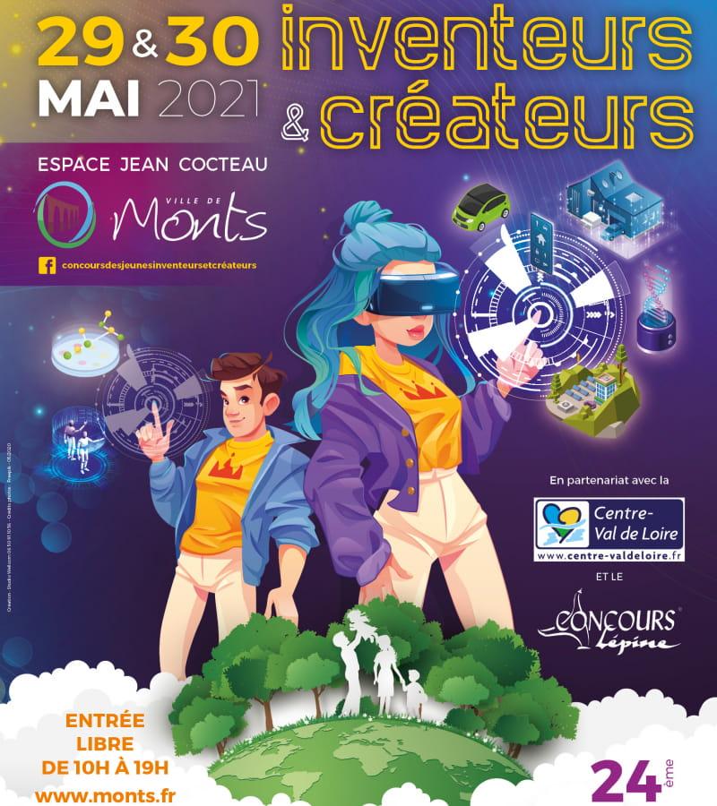 Affiche_120x176_salons des jeunes inventeurs_Monts_exe_2021
